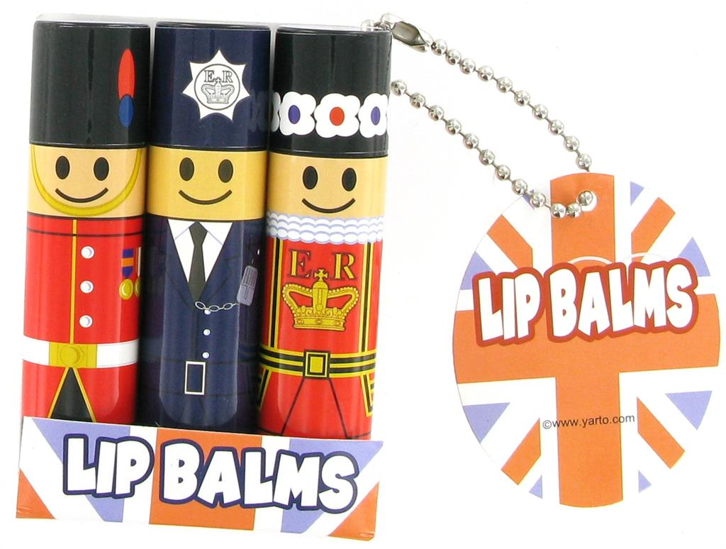 Lip Balms London Character - Pack of 3