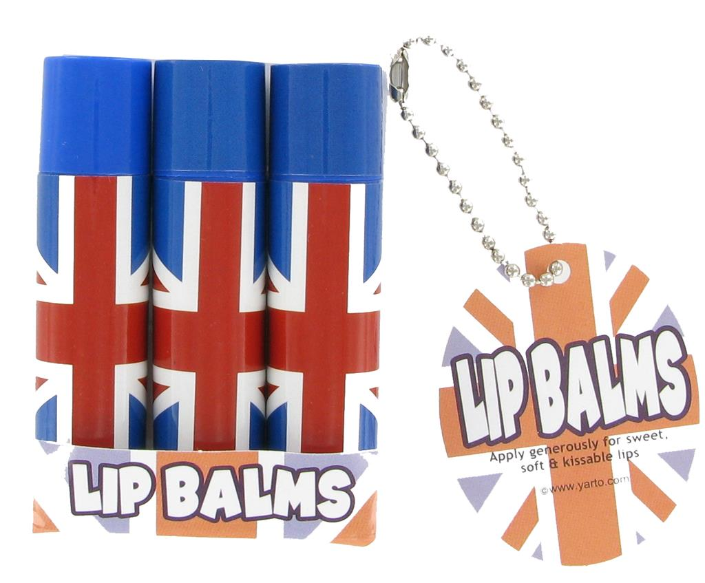 Lip Balms Union Jack -  Pack of 3