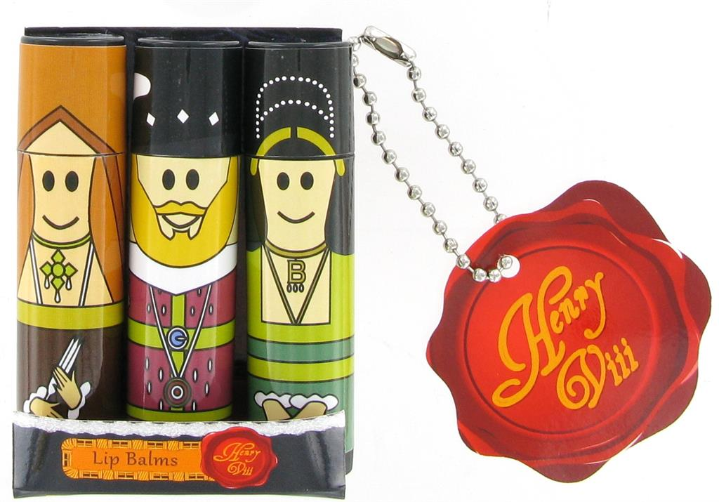 Lip Balms Henry VIII and Wives - Pack of 3