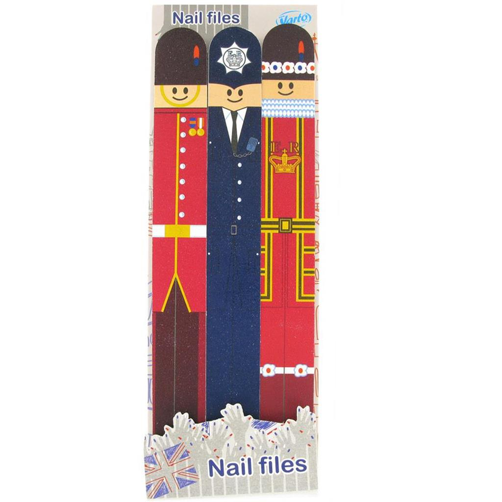 3-Pack Nail Files - London Characters