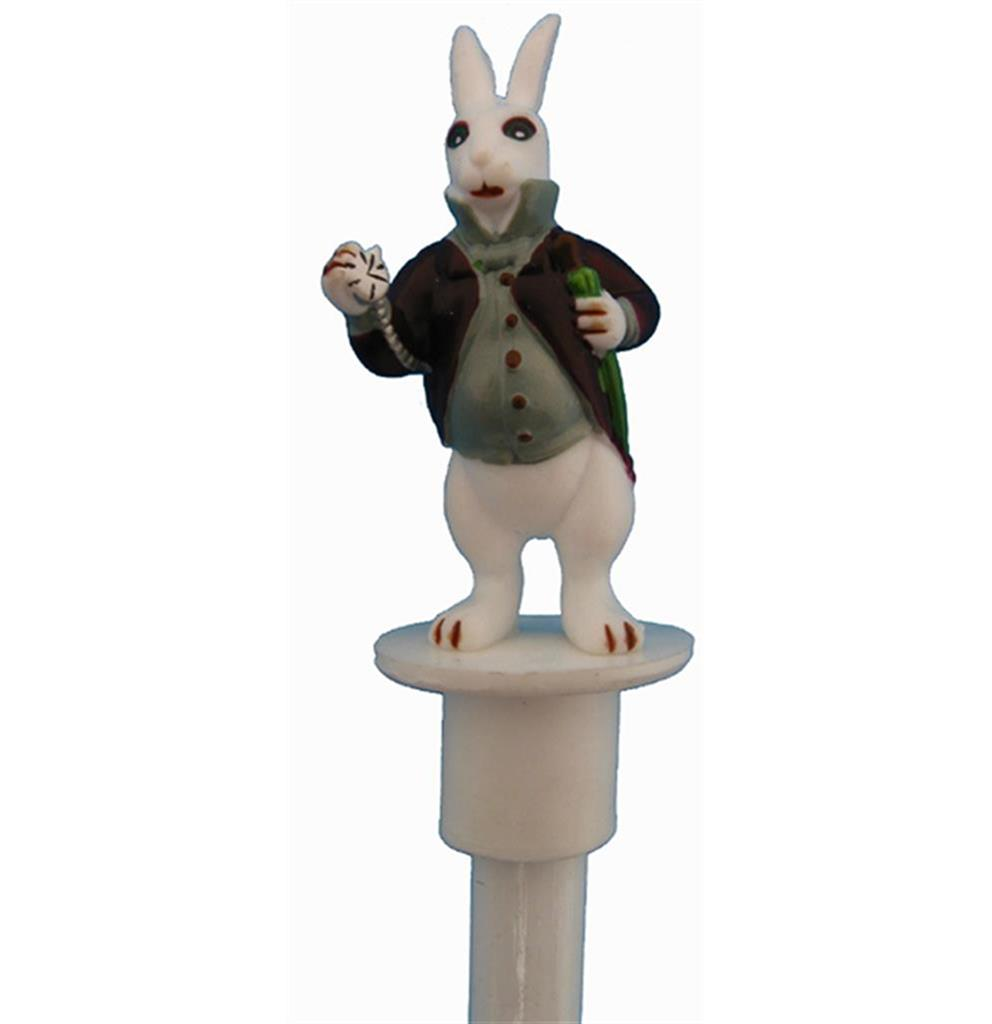 Pencil & topper - White Rabbit with watch