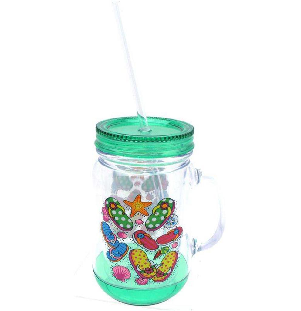 Custom - Jar Mug with Straw