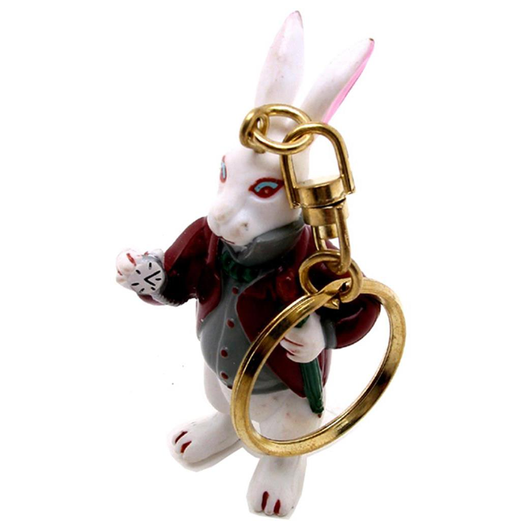Keyring - Alice White Rabbit with Watch