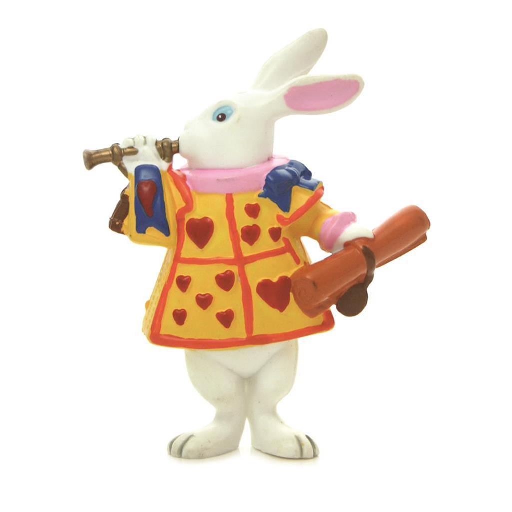 Alice Figurine - White Rabbit with Trumpet