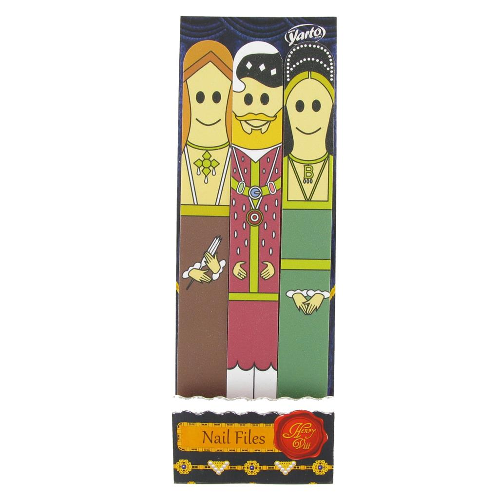 Nail Files Henry VIII & Wives - Pack of 3