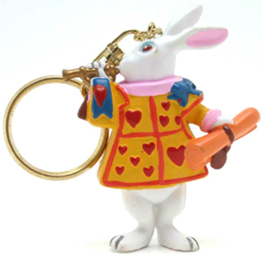 Keyring - Alice White Rabbit with Trumpet
